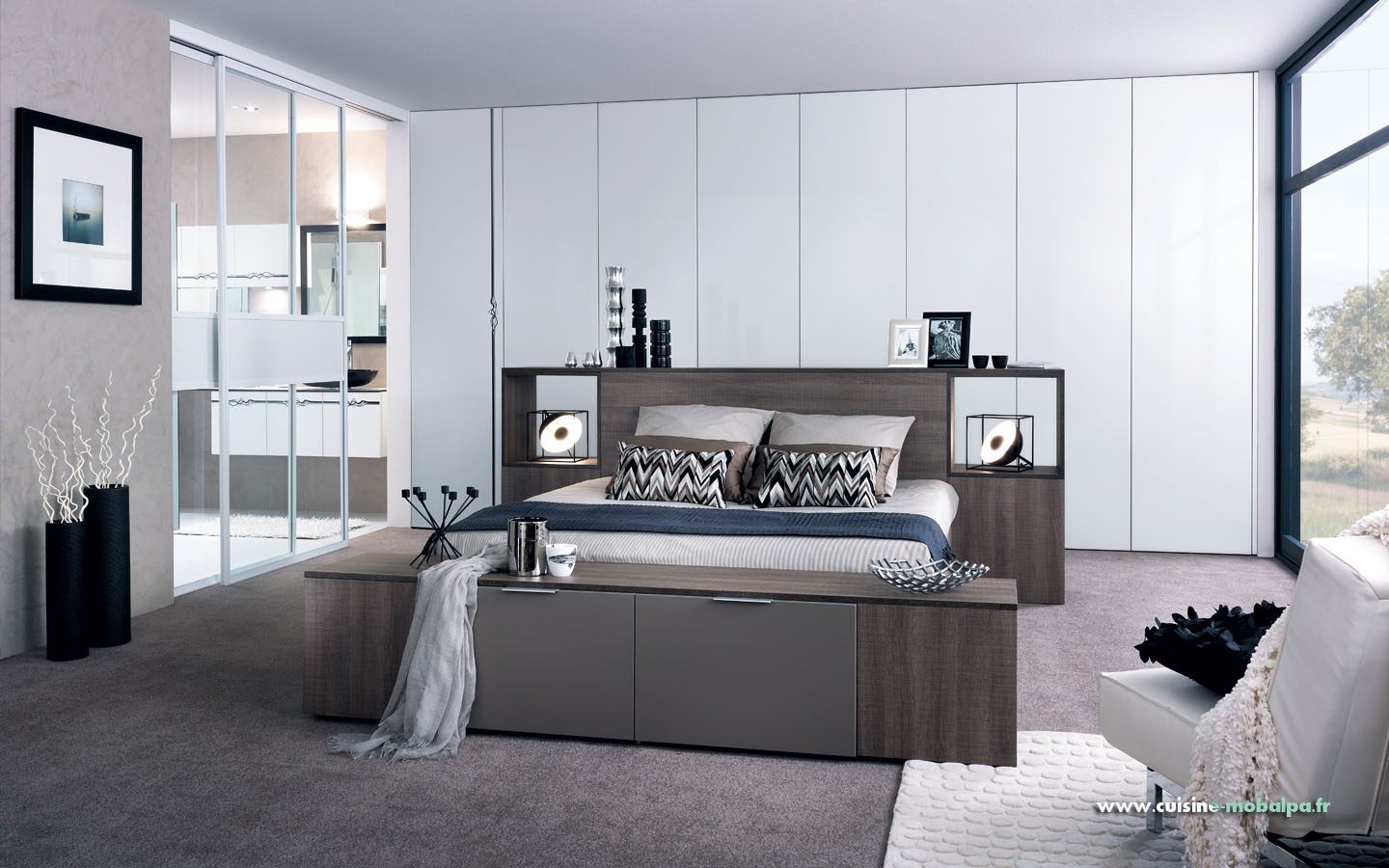 chambre lin aire cuisiniste salle de bains rangement dressing. Black Bedroom Furniture Sets. Home Design Ideas