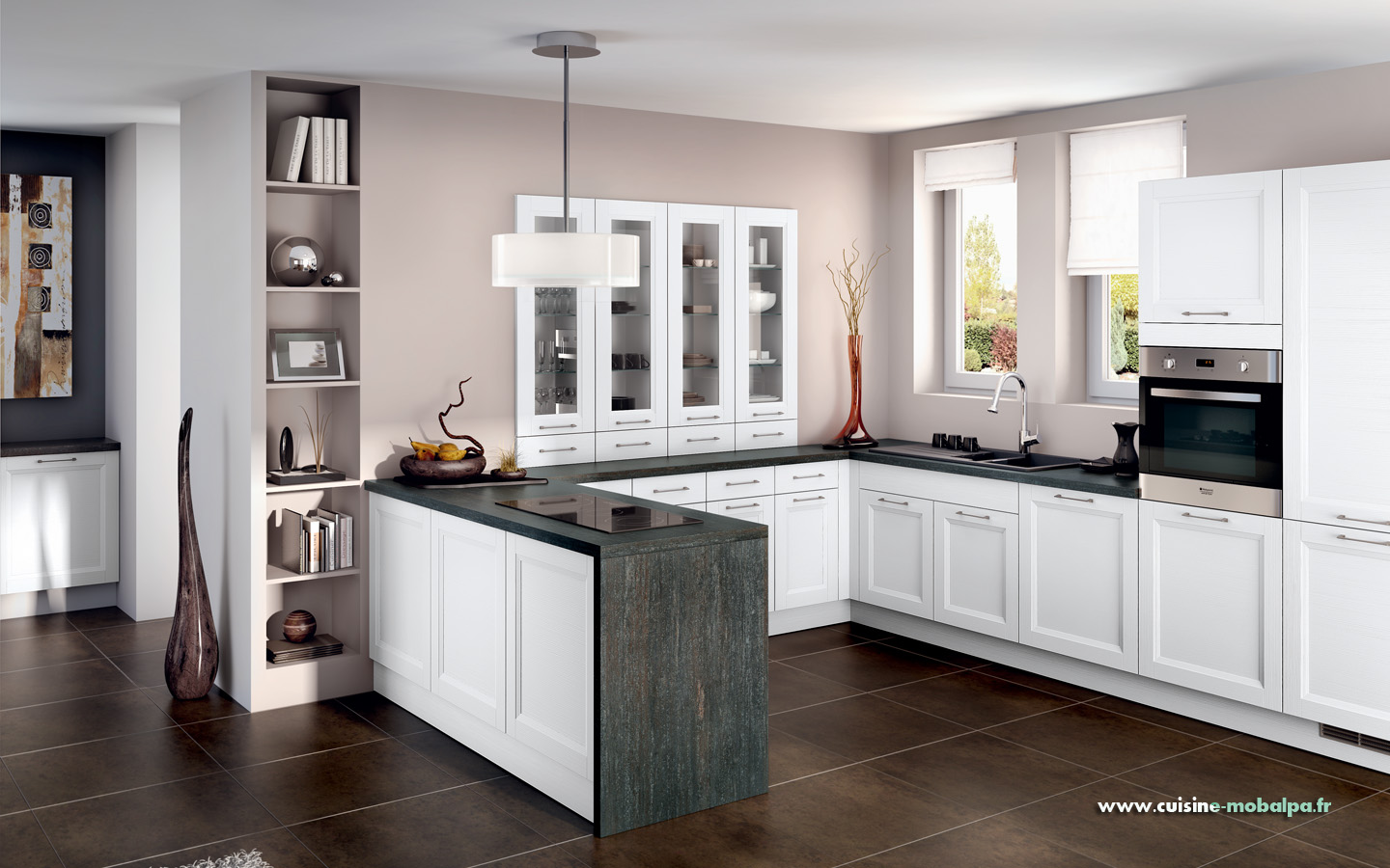 cuisine lynka blanc cuisiniste salle de bains. Black Bedroom Furniture Sets. Home Design Ideas