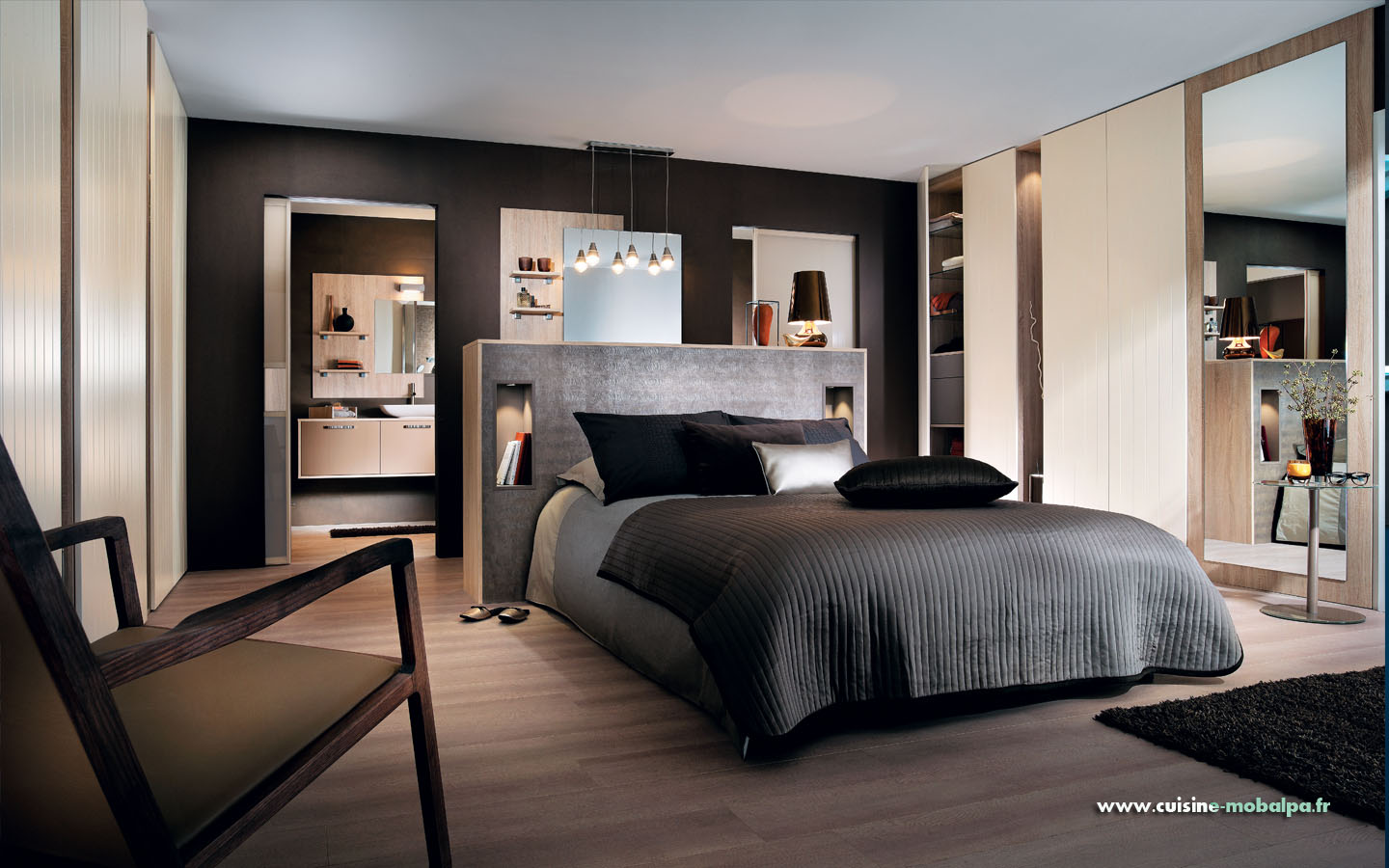 suite parentale confort fanga cuisiniste salle de bains. Black Bedroom Furniture Sets. Home Design Ideas