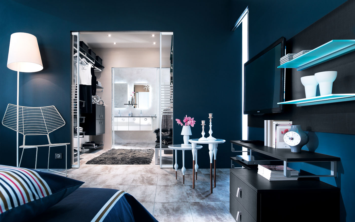 suite parentale traversante born o cuisiniste salle de. Black Bedroom Furniture Sets. Home Design Ideas